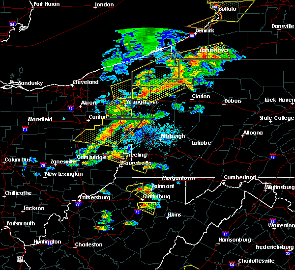 Radar Image for Severe Thunderstorms near Calcutta, OH at 5/25/2019 6:59 PM EDT