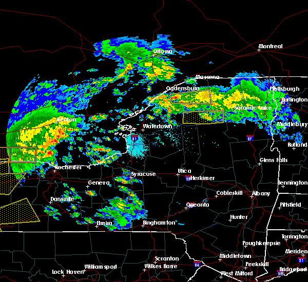 Radar Image for Severe Thunderstorms near Rensselaer Falls, NY at 5/25/2019 7:12 PM EDT