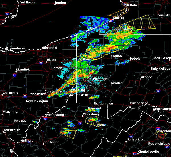 Radar Image for Severe Thunderstorms near Bradford Woods, PA at 5/25/2019 7:19 PM EDT