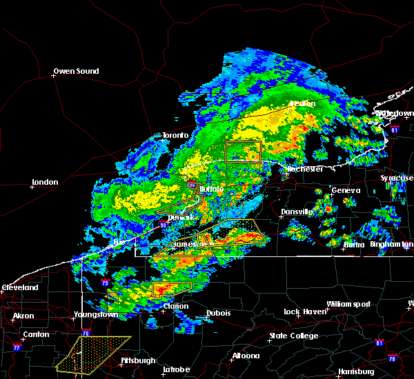 Radar Image for Severe Thunderstorms near Franklinville, NY at 5/25/2019 7:25 PM EDT