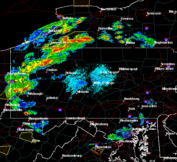 Radar Image for Severe Thunderstorms near Marienville, PA at 5/25/2019 7:25 PM EDT