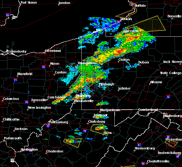 Radar Image for Severe Thunderstorms near Montrose, WV at 5/25/2019 7:29 PM EDT