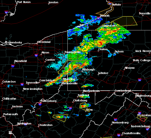 Radar Image for Severe Thunderstorms near Saxonburg, PA at 5/25/2019 7:34 PM EDT