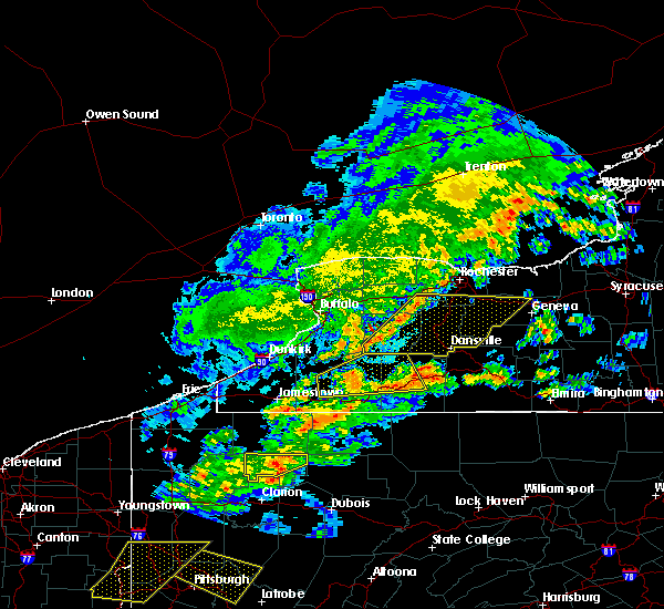 Radar Image for Severe Thunderstorms near Belfast, NY at 5/25/2019 7:36 PM EDT
