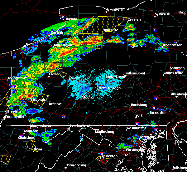 Radar Image for Severe Thunderstorms near Leeper, PA at 5/25/2019 7:36 PM EDT