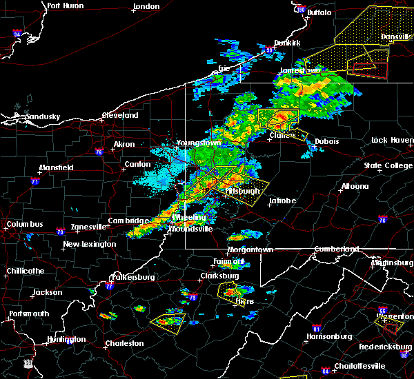 Radar Image for Severe Thunderstorms near Bradford Woods, PA at 5/25/2019 7:38 PM EDT