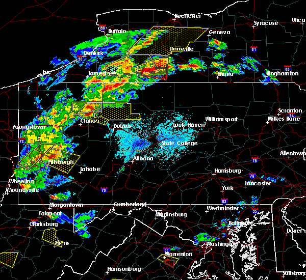 Radar Image for Severe Thunderstorms near Ridgway, PA at 5/25/2019 7:41 PM EDT
