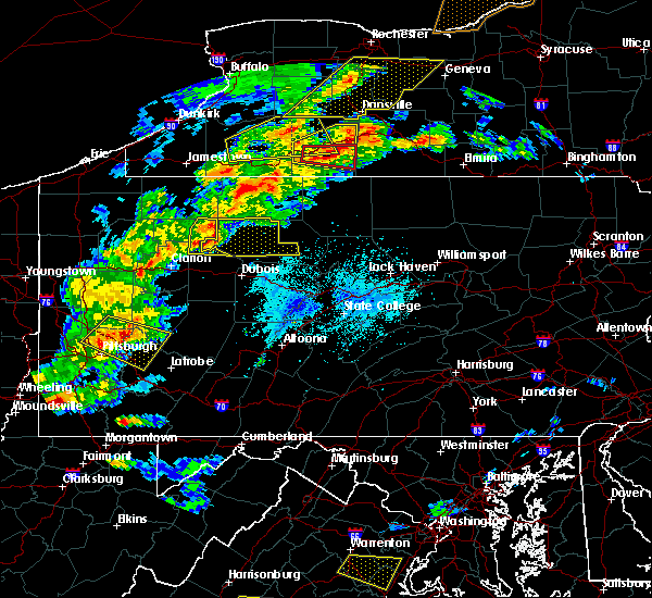 Radar Image for Severe Thunderstorms near Marienville, PA at 5/25/2019 7:53 PM EDT