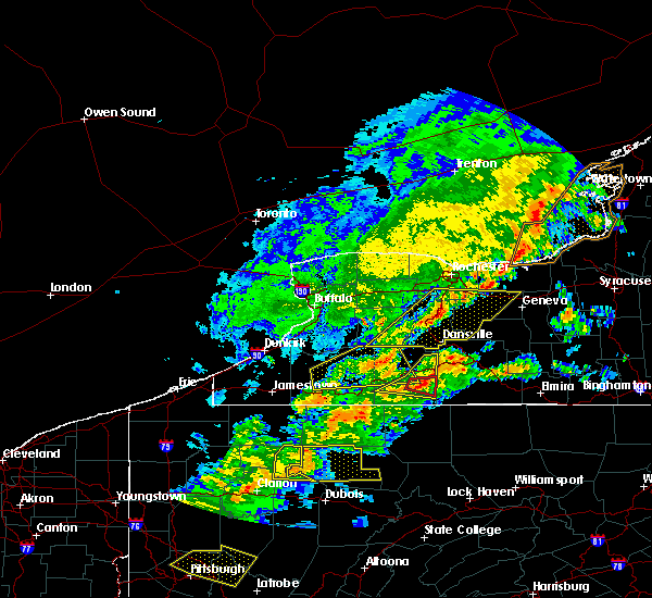 Radar Image for Severe Thunderstorms near Belfast, NY at 5/25/2019 7:58 PM EDT
