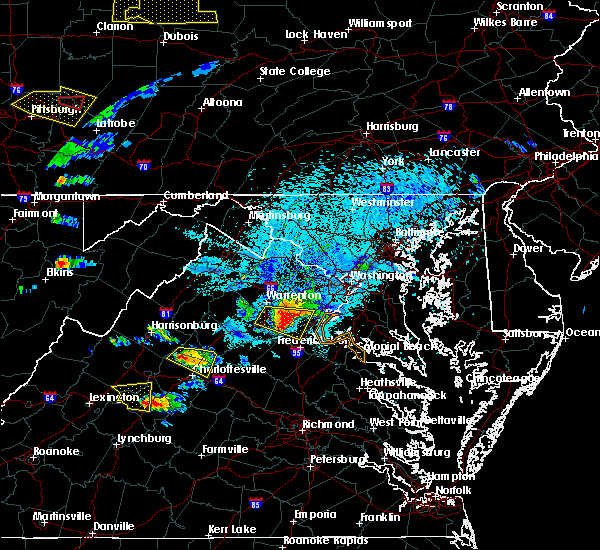 Radar Image for Severe Thunderstorms near Calverton, VA at 5/25/2019 8:02 PM EDT