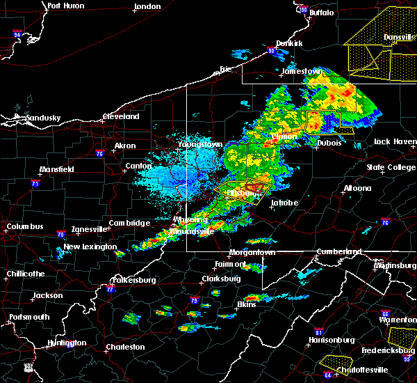Radar Image for Severe Thunderstorms near Vandergrift, PA at 5/25/2019 8:09 PM EDT