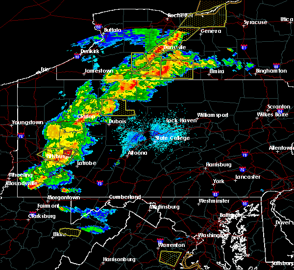 Radar Image for Severe Thunderstorms near Ridgway, PA at 5/25/2019 8:09 PM EDT