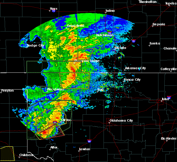 Radar Image for Severe Thunderstorms near Hitchcock, OK at 5/25/2019 7:16 PM CDT