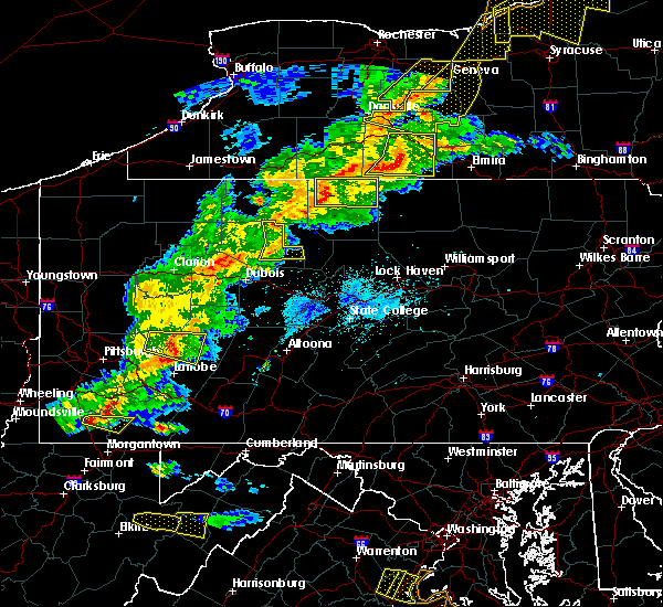 Radar Image for Severe Thunderstorms near Roulette, PA at 5/25/2019 8:25 PM EDT