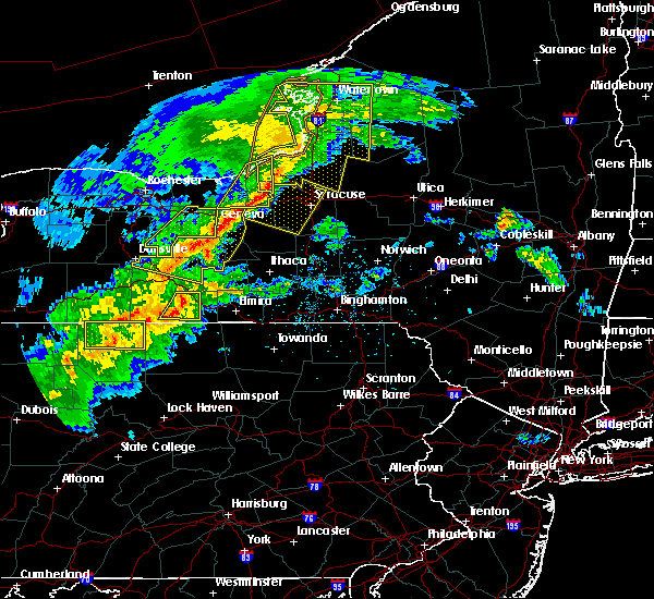 Radar Image for Severe Thunderstorms near Addison, NY at 5/25/2019 8:36 PM EDT