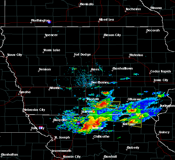 Radar Image for Severe Thunderstorms near Bloomfield, IA at 5/25/2019 7:37 PM CDT