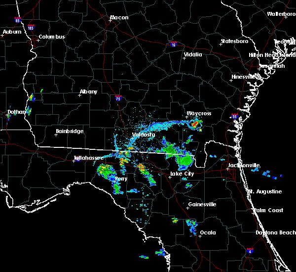 Radar Image for Severe Thunderstorms near Blackshear, GA at 6/13/2015 8:02 PM EDT