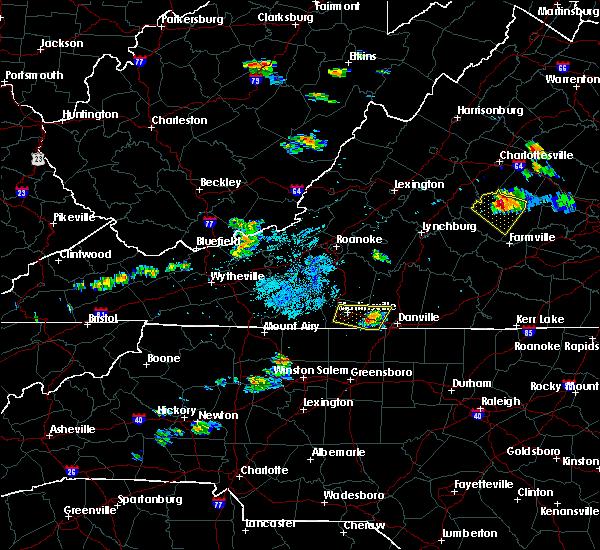Radar Image for Severe Thunderstorms near Chatmoss, VA at 5/25/2019 8:53 PM EDT