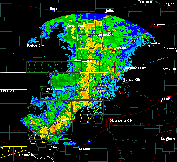 Radar Image for Severe Thunderstorms near Hitchcock, OK at 5/25/2019 8:02 PM CDT