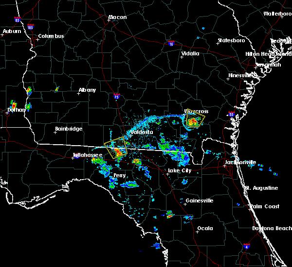 Radar Image for Severe Thunderstorms near Quitman, GA at 6/13/2015 8:16 PM EDT