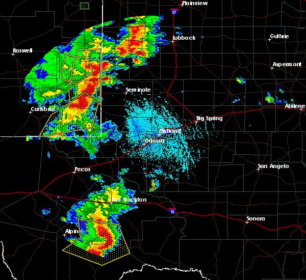 Radar Image for Severe Thunderstorms near Sanderson, TX at 6/13/2015 7:18 PM CDT