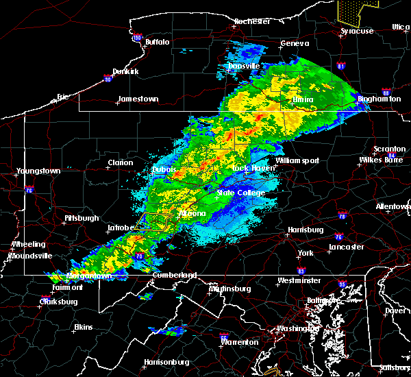 Radar Image for Severe Thunderstorms near Lilly, PA at 5/25/2019 9:25 PM EDT