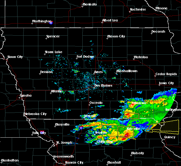 Radar Image for Severe Thunderstorms near Bloomfield, IA at 5/25/2019 8:43 PM CDT