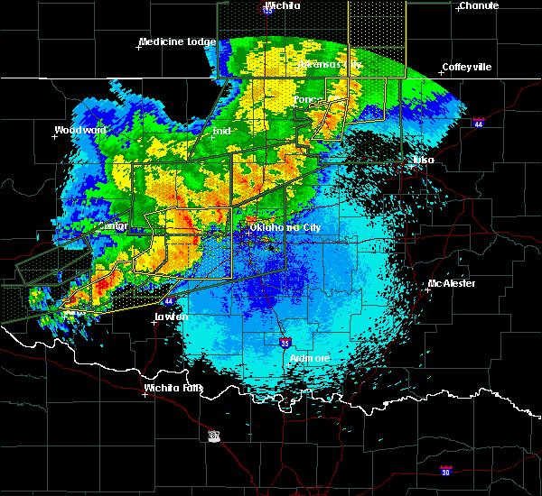 Radar Image for Severe Thunderstorms near Cole, OK at 5/25/2019 10:25 PM CDT