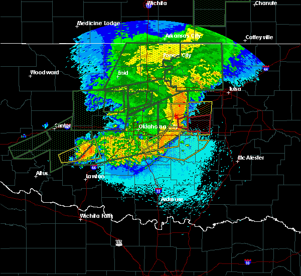 Radar Image for Severe Thunderstorms near Prague, OK at 5/25/2019 11:54 PM CDT