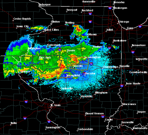 Radar Image for Severe Thunderstorms near Lincoln, IL at 5/25/2019 11:57 PM CDT