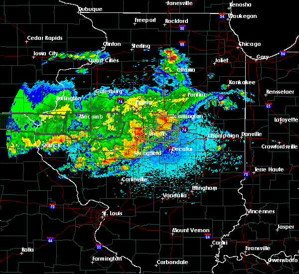 Radar Image for Severe Thunderstorms near Rochester, IL at 5/26/2019 12:18 AM CDT