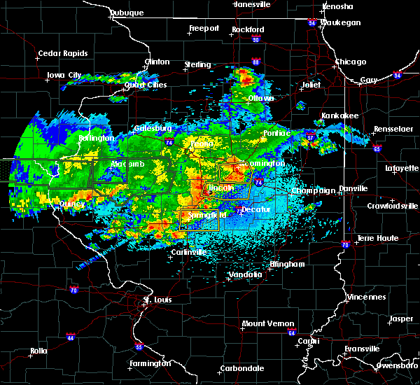 Radar Image for Severe Thunderstorms near Lincoln, IL at 5/26/2019 12:22 AM CDT