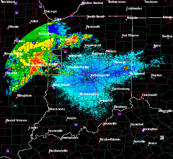 Radar Image for Severe Thunderstorms near Otterbein, IN at 5/26/2019 2:54 AM EDT