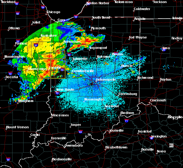 Radar Image for Severe Thunderstorms near Otterbein, IN at 5/26/2019 3:16 AM EDT