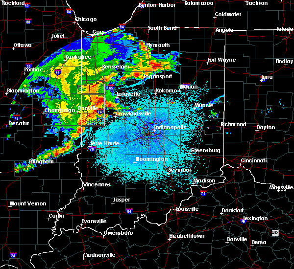Radar Image for Severe Thunderstorms near Otterbein, IN at 5/26/2019 3:38 AM EDT