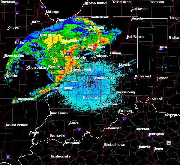 Radar Image for Severe Thunderstorms near Crawfordsville, IN at 5/26/2019 3:58 AM EDT