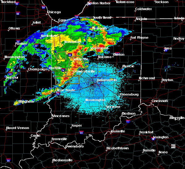Radar Image for Severe Thunderstorms near Marshall, IN at 5/26/2019 4:02 AM EDT