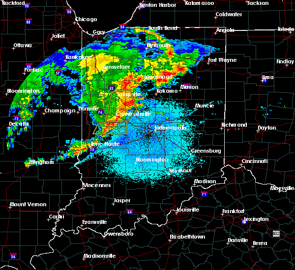 Radar Image for Severe Thunderstorms near Whitestown, IN at 5/26/2019 4:12 AM EDT