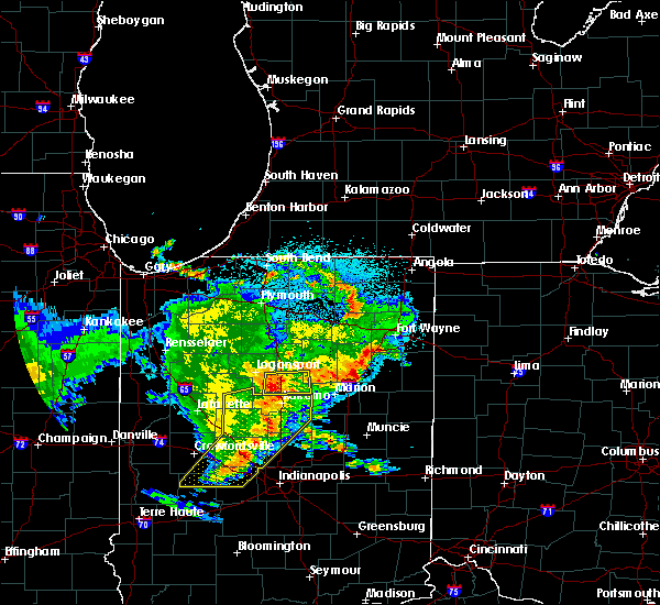 Radar Image for Severe Thunderstorms near Onward, IN at 5/26/2019 4:37 AM EDT