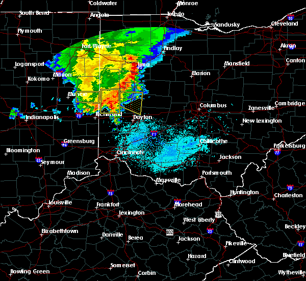 Radar Image for Severe Thunderstorms near Covington, OH at 5/26/2019 6:14 AM EDT