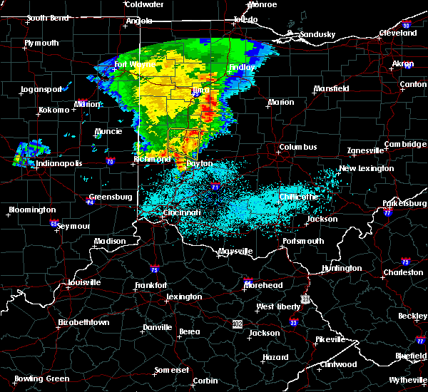 Radar Image for Severe Thunderstorms near Piqua, OH at 5/26/2019 6:40 AM EDT