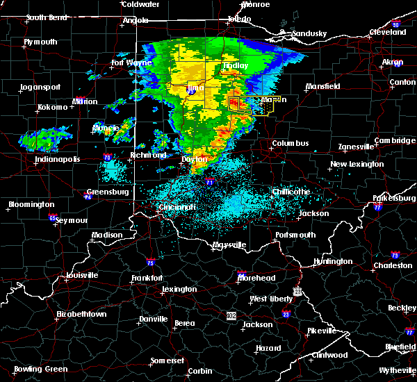 Radar Image for Severe Thunderstorms near Richwood, OH at 5/26/2019 7:11 AM EDT