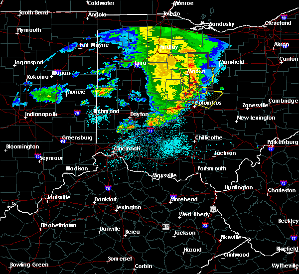 Radar Image for Severe Thunderstorms near Westerville, OH at 5/26/2019 7:34 AM EDT