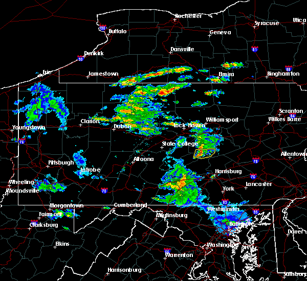 Radar Image for Severe Thunderstorms near Port Trevorton, PA at 5/26/2019 1:27 PM EDT