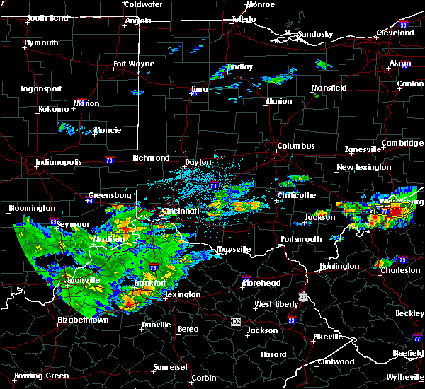 Radar Image for Severe Thunderstorms near Cincinnati, OH at 5/26/2019 4:10 PM EDT
