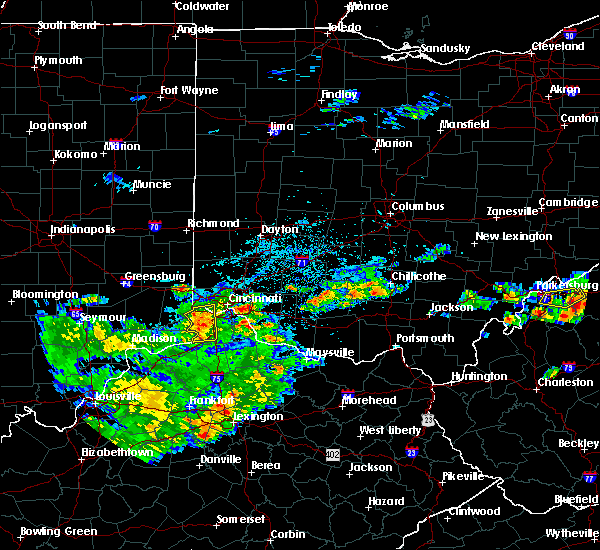 Radar Image for Severe Thunderstorms near Cincinnati, OH at 5/26/2019 4:25 PM EDT