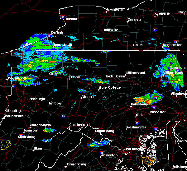 Radar Image for Severe Thunderstorms near Sand Hill, PA at 5/26/2019 4:34 PM EDT