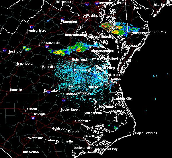 Radar Image for Severe Thunderstorms near Hanover, VA at 5/26/2019 4:38 PM EDT