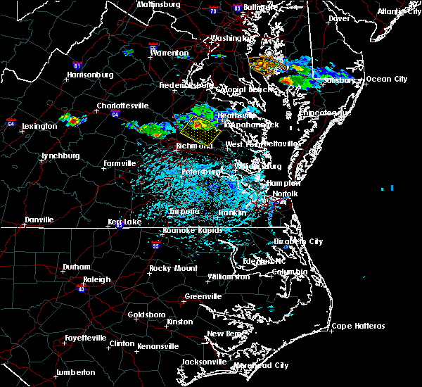Radar Image for Severe Thunderstorms near Central Garage, VA at 5/26/2019 4:48 PM EDT