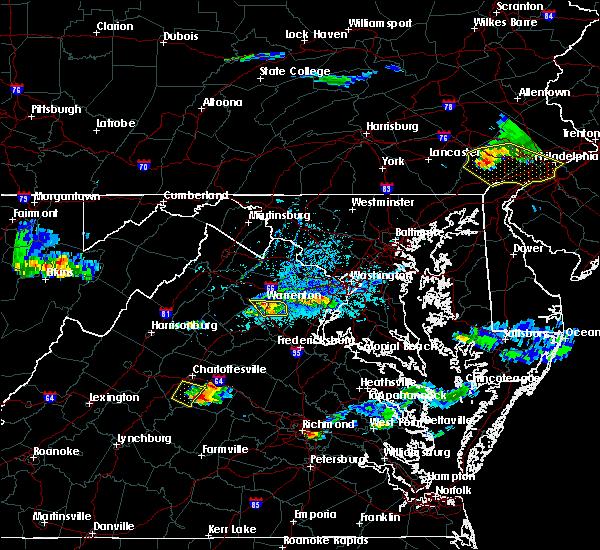 Radar Image for Severe Thunderstorms near Scottsville, VA at 5/26/2019 5:38 PM EDT